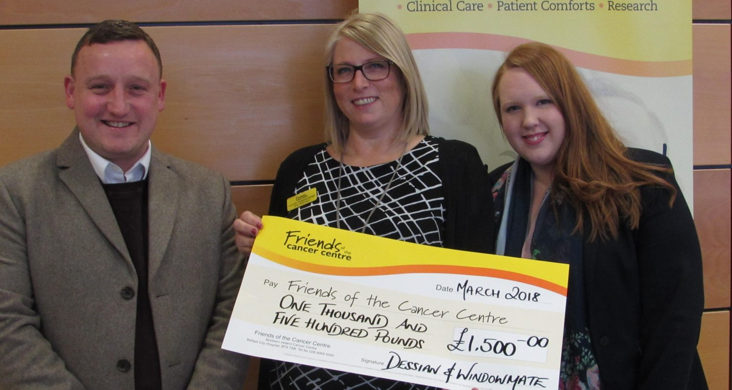 Cheque for Friends of the Cancer Centre
